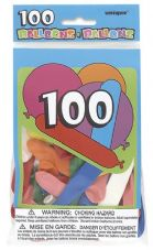 100 Assorted Shape & Size Balloons
